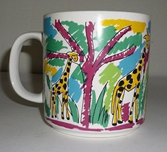 Colorful Giraffes Animal Coffee Mug - $29.99