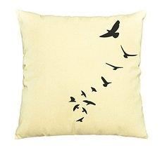 Bird Abstract-7-100% Cotton Decorative Throw Pillows Cover Cushion Case - $13.59