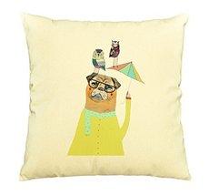 Pug Dog-100% Cotton Decorative Throw Pillows Cover Cushion Case - €11,89 EUR