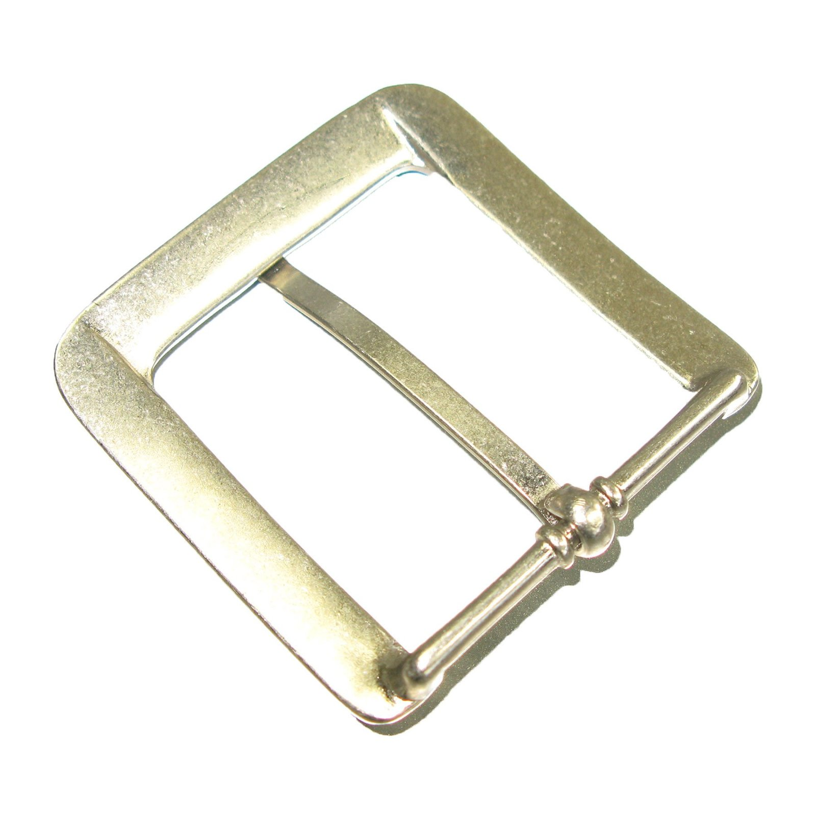 """Mens Heel Bar Roller Leather Belt Buckle 1.5/"""" Nickel"""