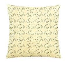 Cute Elephant Pattern-3-100% Cotton Decorative Throw Pillows Cover Cushi... - €11,89 EUR