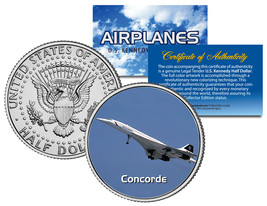 CONCORDE * Airplane Series * JFK Kennedy Half Dollar Colorized US Coin - $8.56