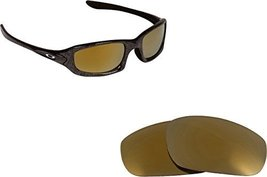 New SEEK OPTICS Replacement Lenses Oakley FIVES 4.0 - Gold - $14.33
