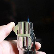 Folding Knife Windproof Refillable Butane Gas Trip Jet Flame Cigarette Lighter - image 8