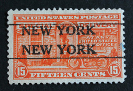 "US Stamp Sc# E13 Special Delivery Precancel ""NEW YORK  NEW YORK"" 1925 - $19.98"