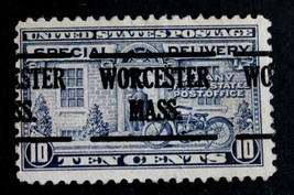 "US Stamp Sc# E12 Special Delivery Precancel ""WORCESTER MASS"" 1922 - $20.78"