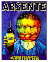 Absinthe Vintage Psychedelic Liquor Aperitif Advertising Giclee Canvas P... - $19.95