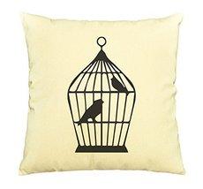 Bird Abstract-32-100% Cotton Decorative Throw Pillows Cover Cushion Case - $13.59