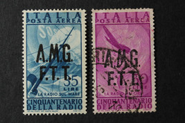 Stamp ITALY TRIESTE-AMG-FTT USED C11 & C12 Occupation Air Mail 1945-47 - $9.89