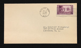 US Stamp Sc# 739 FDC 3c Wisconsin, Green Bay WI July 7, 1934 - $9.89
