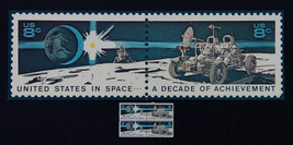 US STAMP SC# 1434-1435 FDC SPACE ACHIEVEMENT FOLIO BY USPS 1971 + 1 MNH ... - $9.89