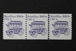 US Stamp Sc# 1897 MNH. 1981 1c Omnibus  Joint Line Coil Strip w/ Plate #3  - $1.99