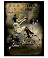 Absinthe Vintage Liquor Aperitif 13 x 10 inch Advertising Canvas Print - $19.95