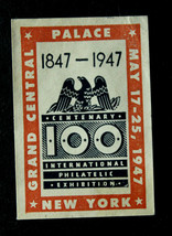 100 Int'l Philatelic Grand Ctrl Palace New York Poster Stamp  May 17-25,... - $2.96