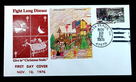 "US Stamp Sc# 1702 ""Fight Lung Disease"" FDC Cover + Xmas Seals WX256 Blk4... - $19.98"