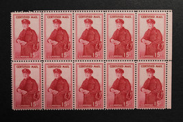 US Stamp FA1 Block of 10 MNH Top Right - $10.99