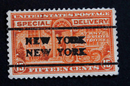 "US Stamp Sc# E16 Special Delivery Precancel ""NEW YORK NEW YORK "" 1931 - $20.99"