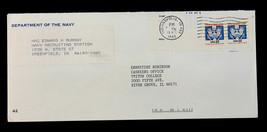US Stamp Sc# O136 Coil Pair on Dept.of the Navy Reuse Cover 1988 - $29.99