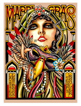 New Orleans 22 x 17 inch Vintage Mardi Gras Advertising Giclee CANVAS Print - $59.00