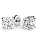 3/4 Carats Total Weight Solitaire Diamond Earrings GH/SI2-I1 14K Yellow ... - $924.09