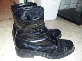 Mens Salvatore Ferragamo Black Leather BOOTS 8 1/2 Made In Italy Dress i... - $149.99