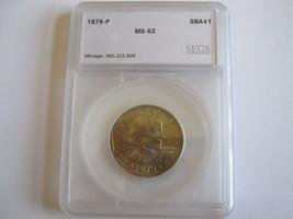 Susan B. Anthony Dollar , Lot 3 , 1979-P , SEGS Certified - $45.00