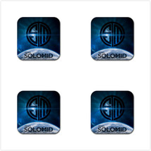 4 Packs Coaster - Lol Team Solo Mid League Of Legends Rubber Square Coas... - $5.99