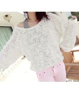 Spring Summer Pretty White Roses Long Sleeves P... - $63.00