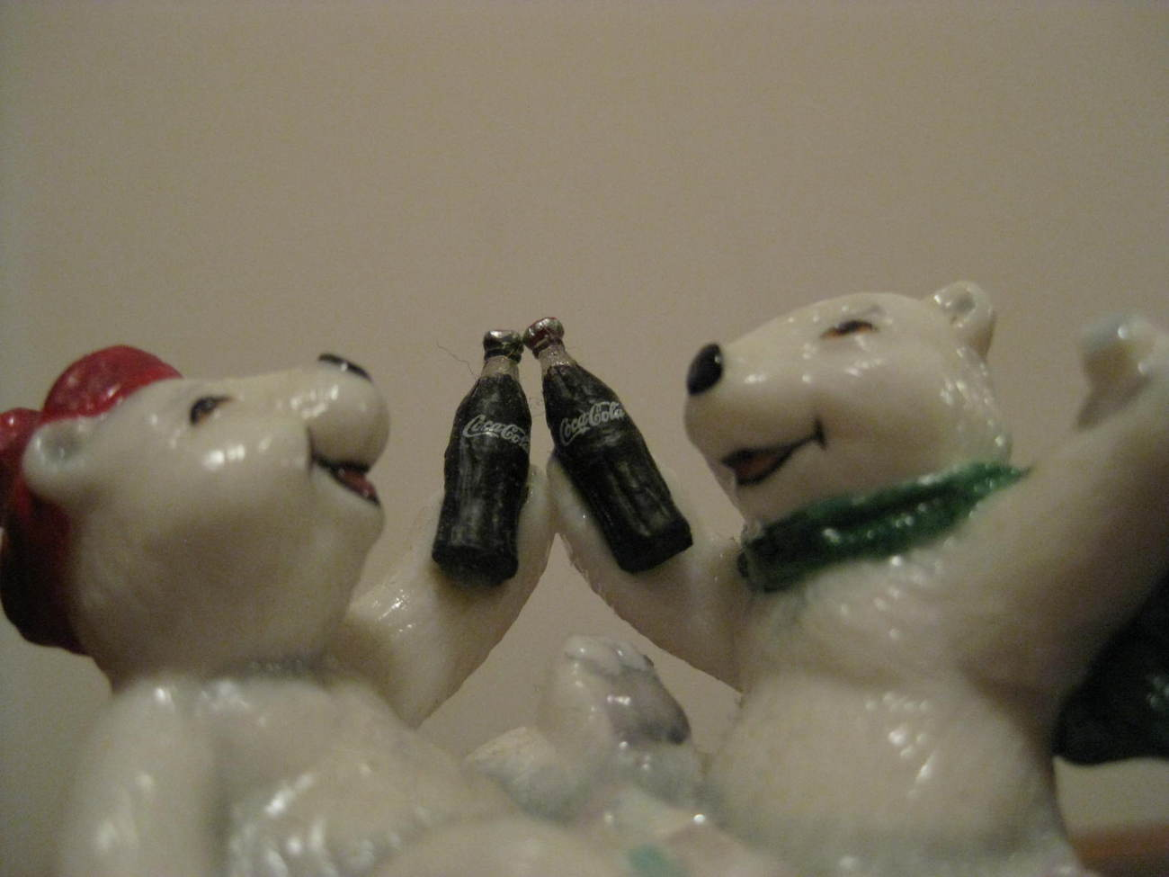 Primary image for Trinket Box -  COCA COLA POLAR BEAR A REFRESHING DIP - Franklin Mint