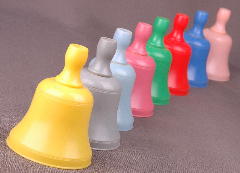 8 Knickerbocker Bells-Vintage Toys, No Hollywood, Calif.-Multi Color-Full Set - $27.10