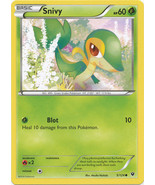 Snivy 5/124 Common Fates Collide Pokemon Card - $0.29