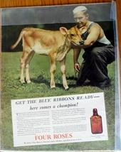Four Roses Whiskey w/Jersey Calf or Vapor Vacuum Sealing White Cap 1937 ... - $6.50