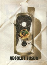 ABSOLUT SUSUR (Lotus Restaurant) Canadian Vodka Magazine Ad HARD TO FIND! - $14.99