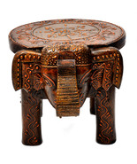 "Wooden Hand Painted Elephant Stool home Decor Decorative Stool 8"" - $48.99"