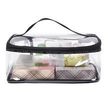 PVC Transparent Cosmetic Bags Women's travel Waterproof Clear Wash Organ... - $15.88