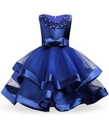 Elegent Girls Blue Formal Dresses Flower girl wedding dresses  in 7 Colors - £53.45 GBP+