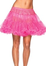 NEW LEG AVENUE WOMEN'S SEXY TUTU DANCE PETTICOAT SKIRT 8990 ONE SIZE HOT PINK