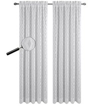 Urbanest 54-inch by 63-inch Portland Set of 2 Sheer Curtain Drapery Panels, Off  - $24.74