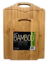 Bamboo Cutting Board Set by Artisan Gourmet | EXTRA LARGE & MEDIUM Organ... - $37.63