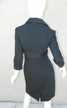 EXPRESS Dress Navy Blue Classic Shirt 3/4 Sleeve Dress Workwear Career Sz 6 image 2