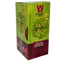 Wissotzky Green Tea Masala Chai Herbal Helth Tea 25 pcs Tea Bags - $14.85