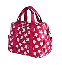 Red, Fashionable WaterProof High Capacity Baby Bottle Tote Bag(Star)