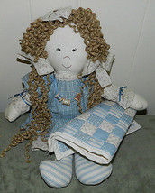 """VERY NICE HAND CRAFTED """"COUNTRY DOLL""""!! SO ADORABLE!! VINTAGE 1980's - $46.39"""