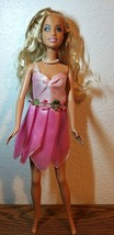 MATTEL Barbie Doll in pink fairy outfit - $10.89