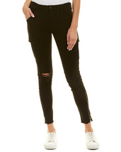 $248 NEW J Brand Houlihan Mid-Rise Skinny Cargo Crop in Ripped Black - S... - $94.49