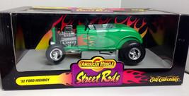 Ertl 1932 Ford Highboy green w/ flames  DIECAST SCALE 1:18 - $29.99