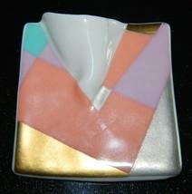 VTG ROSENTHAL Studio Linie Johan Van Loon 1980s Modern Porcelain Brooch Pin - $49.50