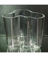 "1 (One) iITTALA AALTO Crystal Vase by Alvar Aalto Size 3.75""h x 4""w - SI... - $117.32"