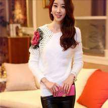 Floral Embroidered Sleeve Pullover Top - $29.00