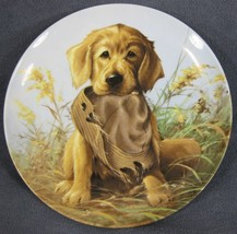Caught In The Act Golden Retriever Collector Plate Field Puppies Lynn Ka... - $27.95
